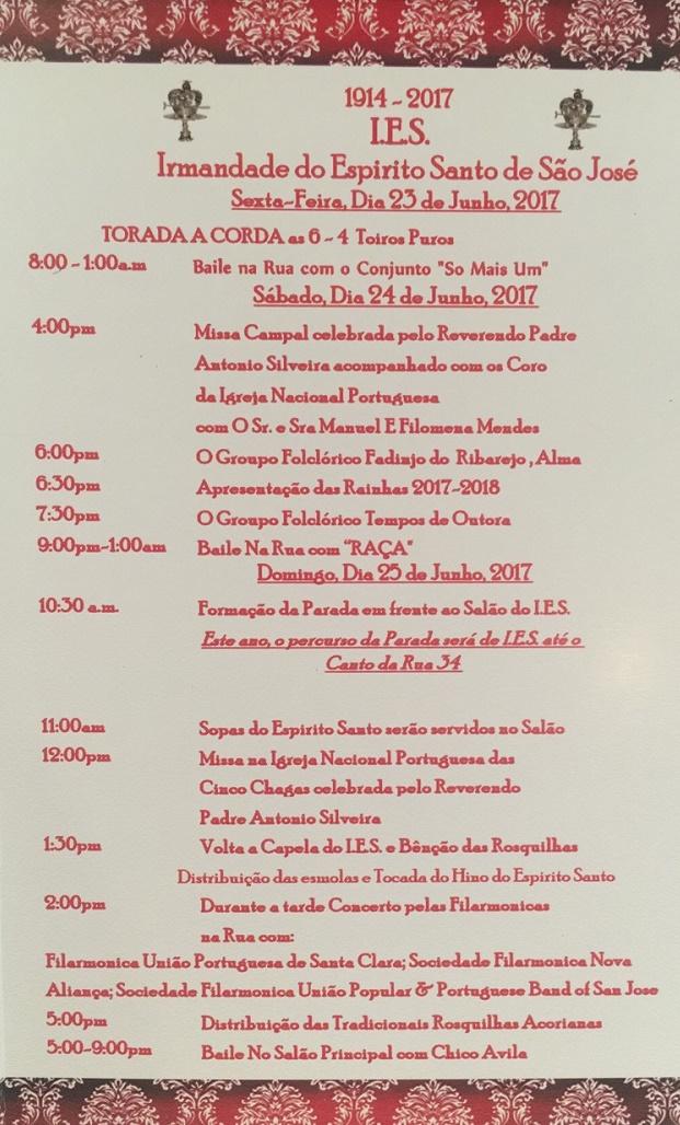 Festa Do Divino Espírito Santo - I.E.S. - Tourada á Corda - San Jose - 2017
