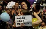 Food pellets for poor spark row in Brazil