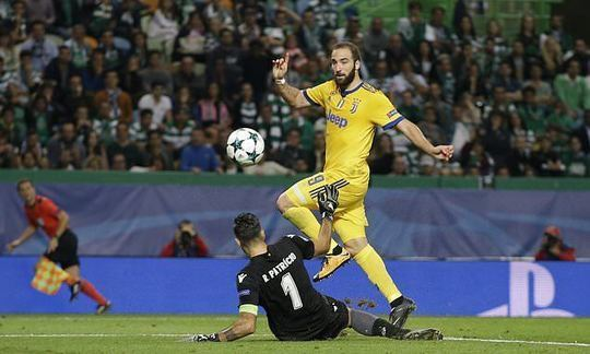Higuain scores late as Juventus draws with Sporting Lisbon