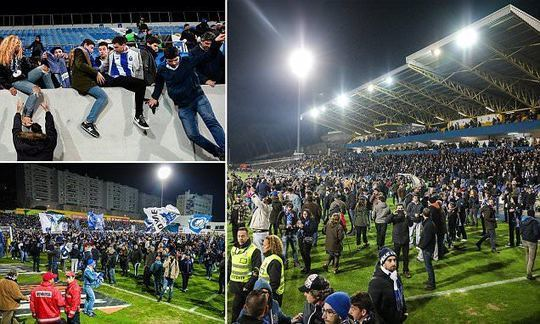 Porto game abandoned after stand began to collapse underneath fans