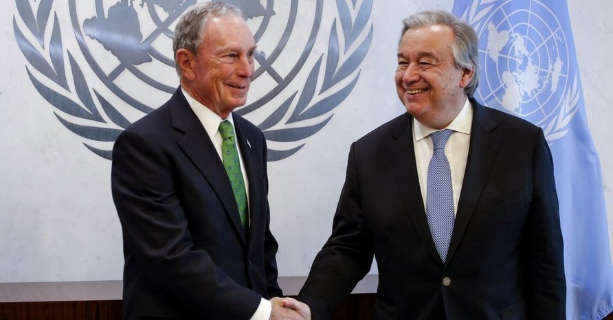 U.N. Chief Picks a Very Rich New Yorker (Not Named Trump) for Climate Job - The New York Times